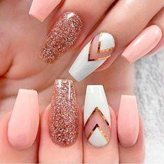 Classy Nails, Stylish Nails, Trendy Nails, Fall Acrylic Nails, Acrylic Nail Designs, Nail Art Designs, Nails Design, Great Nails, Cute Nails