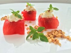 Watermelon and Feta - This is a great dish for the summer and very similar to what I prepared for the Countess of Wessex Best Bbq Recipes, Barbecue Recipes, Chef Recipes, Grilling Recipes, Summer Recipes, Barbeque Side Dishes, Watermelon And Feta, Bbq Food, Professional Chef