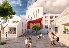 the scheme seeks to combine the intimacy and liveliness of historic towns with the density, ecology, and comfort associated with more modern city planning.