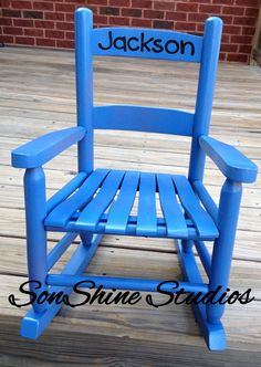 Name Decal For Child's Rocking Chair