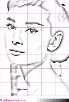 How to Draw Audrey Hepburn Using a Grid                                                                                                                                                                                 More