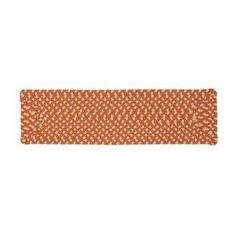 Colonial Mills Tangerine Rectangular Stair Tread Mat (Common: 8-In X 2
