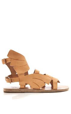 Carven Banana Leaf Winged Leather Sandals by Ancient Greek Sandals
