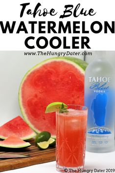 The Tahoe Blue Watermelon Cooler has real food, amazing ingredients, and enough summer to remind you to enjoy even the most Monday-ist of summer Modays. Health Smoothie Recipes, Vegan Smoothies, Cocktail Drinks, Cocktail Recipes, Cocktails, Vegetarian Soup, Vegetarian Recipes, Healthy Recipes, Fruit Drinks