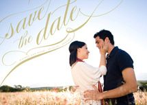 Save the Date (there are matching Wedding Invites too... love the cursive... really want to go with something like this!)