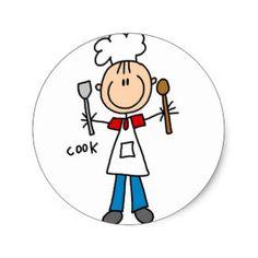 Stick Figure Cook Sticker