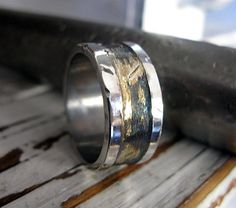 Rustic Mens Wedding Band  Mens Wedding Ring  by RusticFORMen