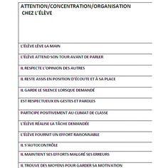 Grille d'observations Education, Nursery School, Classroom Management, Behavior, Tools, Organization, Onderwijs, Learning