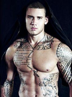 Vince Ramos (model) https://www.facebook.com/SEXYEYECANDIES  Sans tattoos for me, thanks.
