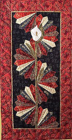 Cats Quilt Art - Serenity -- great idea for use of Dresden blades  LOVE IT.  Pattern for sale.