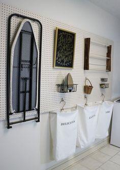 painel perfurado na lavanderia
