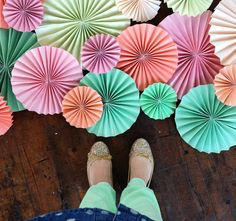 Over the past few days, I have had a lot of questions on how I made all those paper fans from our studio inspiration photo shoot. Here is a mini DIY that I hope helps you make tons of paper f…