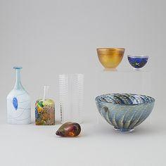 BERTIL VALLIEN, glas, 7 delar, Kosta Boda, signerade, 1900-talets slut. - Bukowskis Kosta Boda, Decorative Bowls, Glass Art, Home Decor, Boden, Decoration Home, Room Decor, Jar Art, Interior Decorating