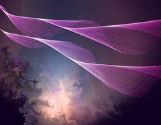 PAARSE TWIST... Originele kunst, hedendaagse kunst, Art digitale, kleurrijke Print, Abstract, grote kunst aan de muur