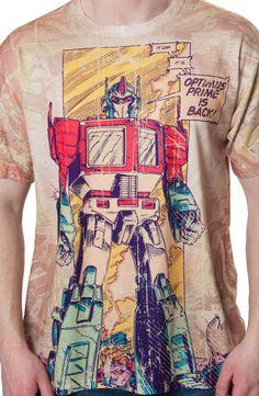 Comic Panel Optimus Prime Transformers Shirt