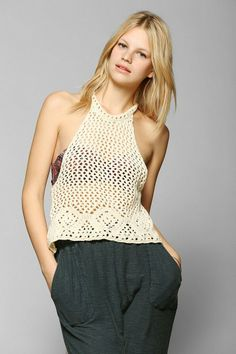 Staring At Stars Open-Crochet Tank Top #urbanoutfitters