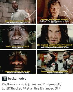 Colonel James Rhodes Rhodey War Machine Iron Patriot Iron Man James Buchanan Barnes Bucky Barnes avengers marvel mcu