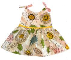 The Bespoke Baby Tie Strap Summer Dress on Etsy, £15.00