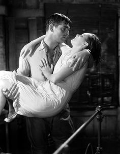 Clark Gable & Mary Astor in Red Dust, 1932.  This movie was remade by director John Ford in 1953 as Mogambo, this time set in Africa rather than Indochina & shot on location in color, with Ava Gardner in the Jean Harlow role & Grace Kelly playing Astor's part. Clark Gable returned, 21 years later, to play the same character.