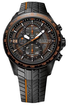 Graham Watch Silverstone RS Endurance Orange #2stcb-b04a-k98h #bezel-fixed…