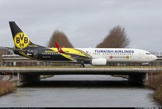 "Turkish ""Borussia"" Boeing 737-8F2 @ AMS"