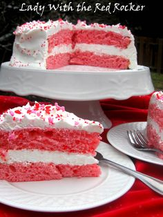 Recipe: 2 Ingredient Strawberry Cake  1 box strawberry cake mix  12 oz. diet 7-up  Combine the cake mix and the 7-up in a bowl and beat with an electric mixer until well blended.  Bake as directed on box. Cool and frost with Cool Whip or any frosting of your choice.