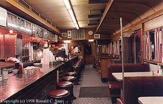 Interior of the Summit Diner, New Jersey