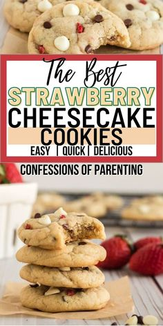 The best strawberry cheesecake cookie recipe is finally here! These strawberry cheesecake cookies are ooey-gooey and worth the extra calories. These are quick, easy, and totally delicious.
