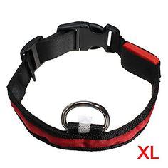 Aus der Kategorie Sicherheitshalsbänder   gibt es, zum Preis von EUR 2,23  <b>* TOOGOO ist ein eingetragenes Markenzeichen. Nur TOOGOO autorisierte Verkaeufer duerfen unter TOOGOO-Listing verkaufen.</b> <br />TOOGOO(R) LED-Blitzlicht einstellbare Sicherheits Haustier Hund leichtes Nylon-Halsband Plain Tag - Rot XL <br /> 100% strapazierfaehigem Nylonband und regen resistent Electronics. <br /> 4 blinkende Modi: Sicher auf, schnell blinken, langsam blinken, OFF (Sie koennen die Modelle durch…