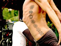 Chakra tattoo - I think this would look nice on my husband's back.