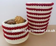 Free crochet pattern Bowl & Waste Bin Covers USA