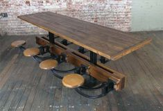 great table at Get Back Inc.–check them out if you're into vintage industrial objects + lighting