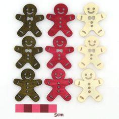 Hobbycraft Christmas Large Wooden Gingerbread Men Embellishment 20 Pack