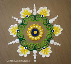 50 Vrishabha Sankranti Rangoli Design (ideas) that you can make yourself or get it made during any occasion on the living room or courtyard floors. Easy Rangoli Designs Videos, Easy Rangoli Designs Diwali, Rangoli Designs Latest, Simple Rangoli Designs Images, Rangoli Designs Flower, Rangoli Border Designs, Rangoli Ideas, Rangoli Designs With Dots, Beautiful Rangoli Designs