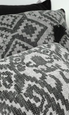 Goround interior. Winter collection 2016, Black and white printed kelim