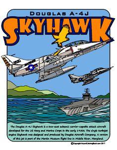 Airport Coloring Book A-4J Skyhawk