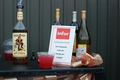 Exhibitor and Sponsor, Infor Signature Drink