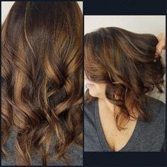 #Carolyn's #creations #hairpainting #beachwaves #lovewhatido #golden #caramel #blonde #luciacsalon