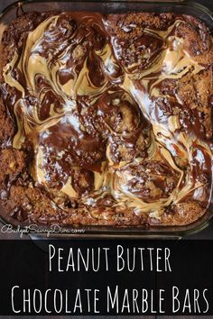 The MOST Amazing Dessert Recipe - EVER!!!  It was gone within one hour! If you like peanut butter and chocolate this recipe is for you :) Peanut Butter Chocolate Marble Bars Recipe – Marie's Recipe #chocolate #peanutbutter #dessert #budgetsavvydiva via budgetsavvydiva.com