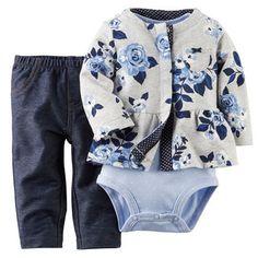 Set 3 Piezas Chaleco y Jeans Carter´s