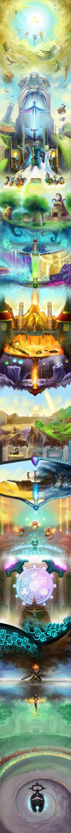 Hace más de un año os mostramos un alucinante homenaje a la saga Zelda en forma de un enorme dibujo que causó sensación. El que os traemos hoy puede que no sea tan espectacular y detallado, pero es…