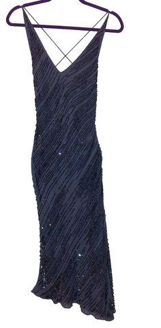 Vintage Violet Beaded Evening Gown by MyVintageModernHeart on Etsy