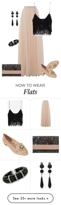 """outfit 3486"" by natalyag on Polyvore featuring мода, Needle & Thread, Dolce&Gabbana, BUCO, Zara, Givenchy и Ross-Simons"