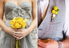 Icing Designs: Yellow and Grey Wedding Inspiration