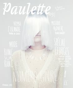 Paulette Magazine white on white on white. Graphic Design Magazine, Magazine Cover Design, Magazine Covers, Print Layout, Layout Design, Print Design, Design Design, Editorial Layout, Editorial Design