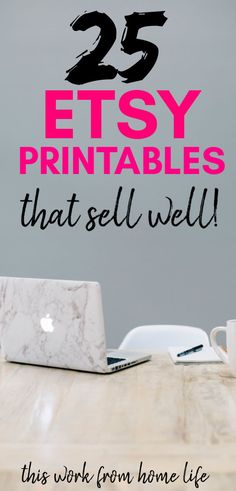 How to Make and Sell Digital Printables on Etsy. Tips and ideas for how to sell digital printables on Etsy. Get a list of 25 Etsy printables that sell really well and make money from home. Making Money On Etsy, Make Money Now, Make Money Blogging, Make Money From Home, Money Making Crafts, Money Tips, Crafts To Make And Sell, Sell Diy, How To Make Stuff