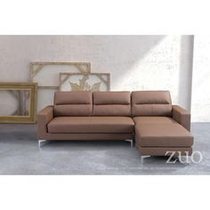 Zuomod Versa Brown Sectional Sofa - 100231  For $1164