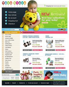 Online Shop osCommerce Templates by Delta Kids Store, Toy Store, Entertainment Online, Online Shopping Stores, Website Template, Doll Toys, Winnie The Pooh, Entertaining, Templates