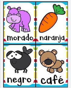 Juego bingo de los colores para aprender los colores Preschool Books, Preschool Games, Toddler Activities, Diy Learning Books, Elementary Spanish, Colouring Pics, Color Activities, Games For Kids, Kid Games
