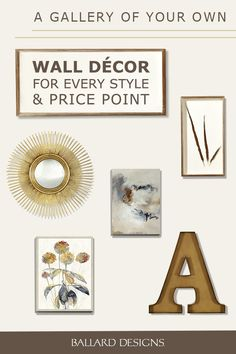 Changing your wall decor can be the simplest, most affordable way to reinvent a room while making a statement about your personality. Create an at-home gallery with a collage of framed wall art, add vintage flair with wrought iron or open up a space with a great wall mirror. The possibilities are endless.